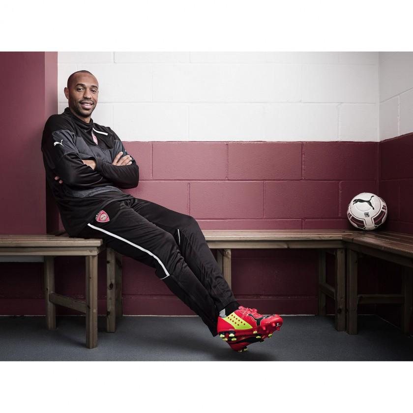 Thierry Henry im neuen evoPOWER Fuballschuh 2014 von PUMA