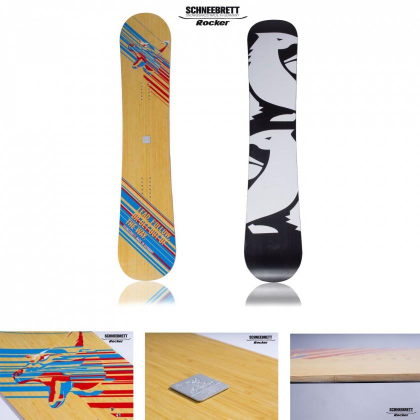Follow the Leader Snowboard front/back 2014 von Schneebrett