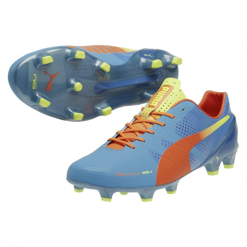 evoSPEED 1.2 SL FG Fussballschuh sharks-blue-peach-yellow 2014 von PUMA