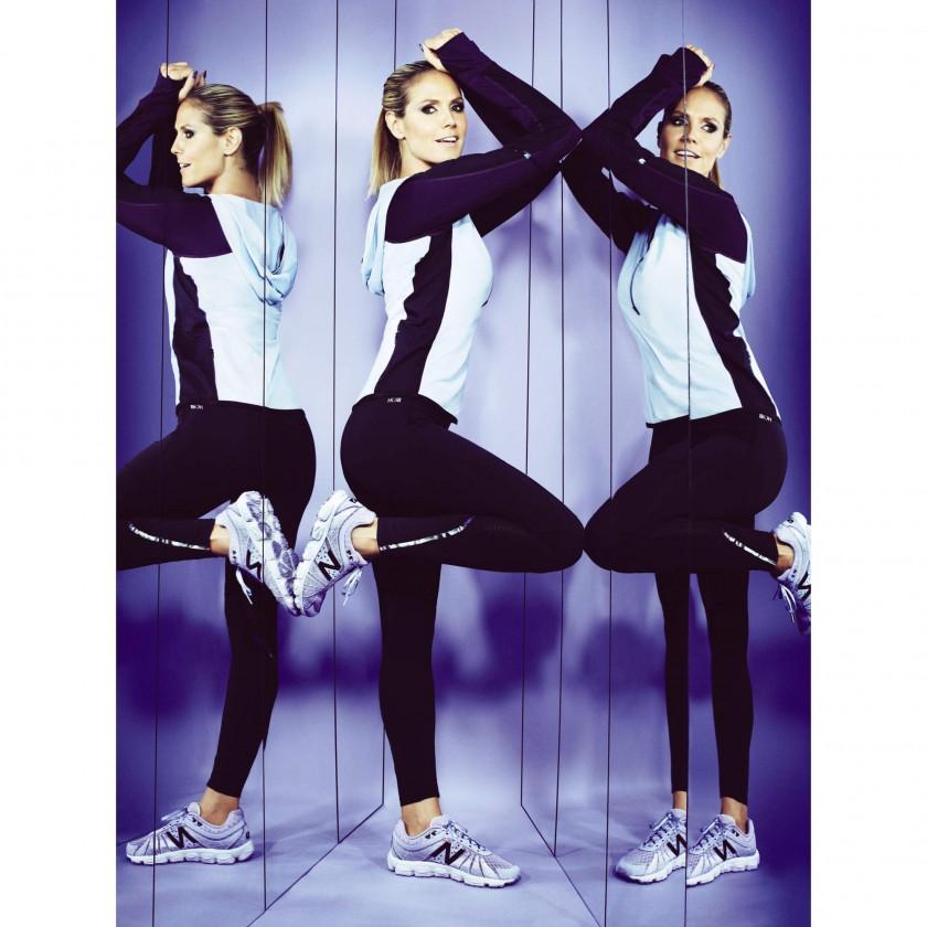 Heidi Klum prsentiert ihre Heidi Klum for New Balance Sportbekleidungs-Kollektion 2014 - stehend