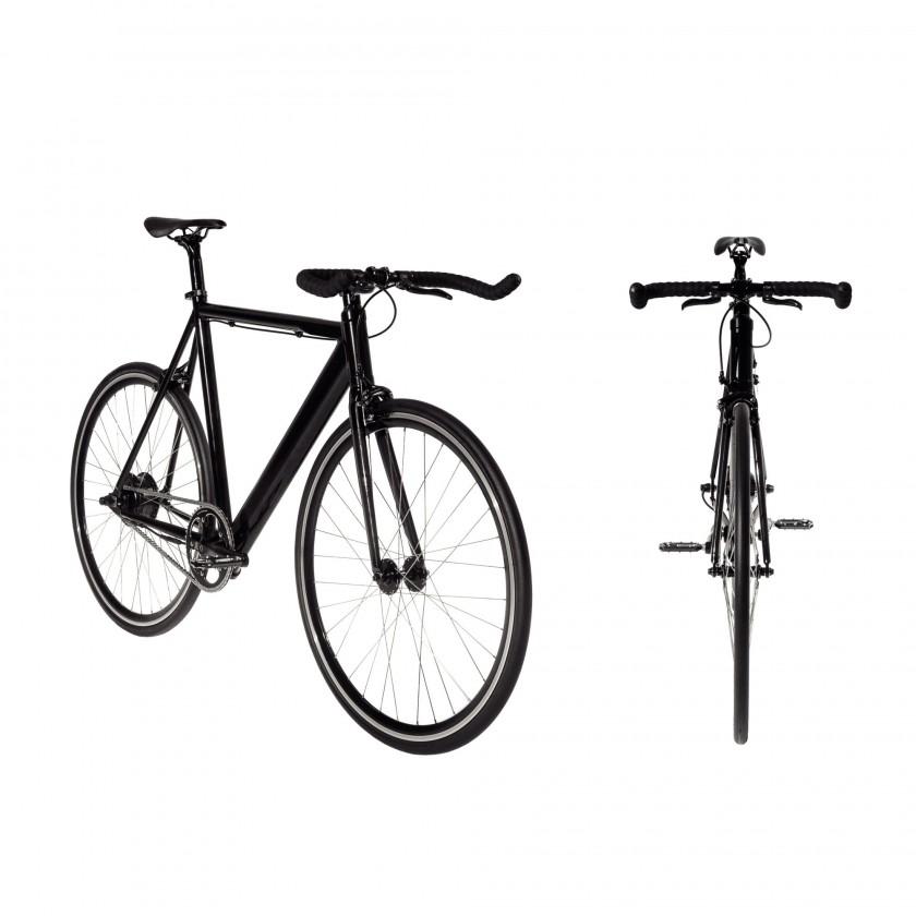 eCycle Single-Speed E-Bike seitlich, frontal 2014 von COBOC