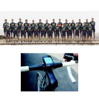 Team Movistar fhrt in der Saison 2014 mit dem navi2coach Fahrradcomputer von o-synce