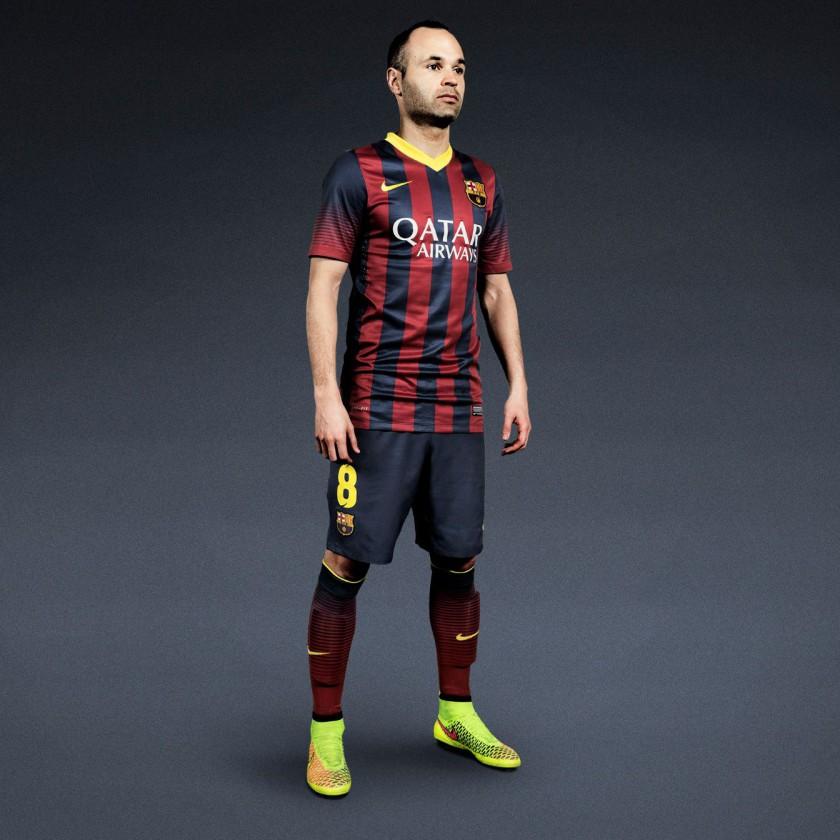 Andres Iniesta vom FC Barcelona im Magista Fuballschuh 2014 von Nike