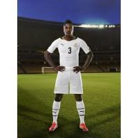 Asamoah Gyan im Trikot Ghana Home fr die Weltmeisterschaft 2014 in Brasilien von PUMA