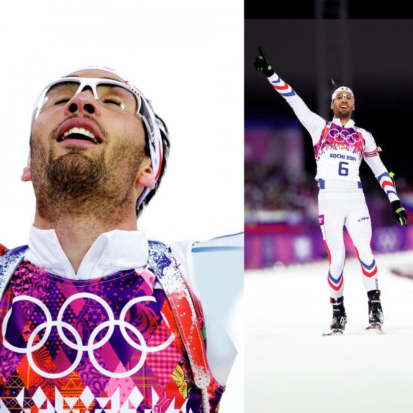 Martin Fourcade FRA gewann 2x Gold u. 1x Silber bei Olympia 2014 in Sotschi im Biathlon