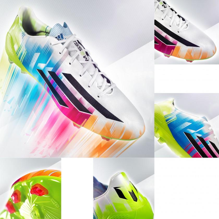 adizero f50 Fuballschuh Lionel Messi Edition white/colored 2014 von adidas