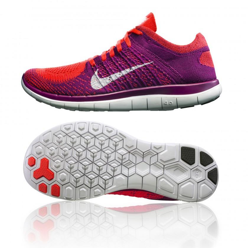 Nike Free 4.0 Flyknit Laufschuh Women side/sole 2014