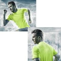 David Beckham im Training T-Shirt mit Climachill-Technologie 2014 von adidas