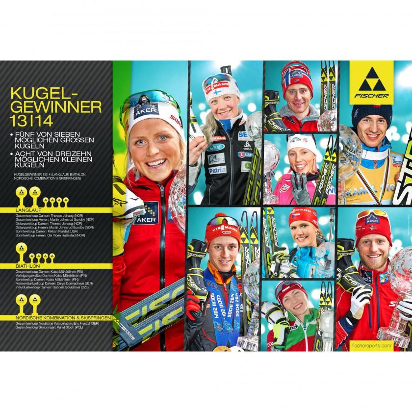 Fischer berragend: Die Gewinner der Weltcup-Kugeln 2013/14 in den nordischen Disziplinen