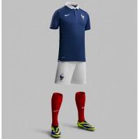 Frankreich Heim-Outfit Trikot, Hose, Socken fr die Fuball-Weltmeisterschaft 2014 in Brasilien von NIKE