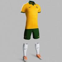 Australien Heim-Outfit Trikot, Hose, Socken fr die Fuball-Weltmeisterschaft 2014 in Brasilien von NIKE