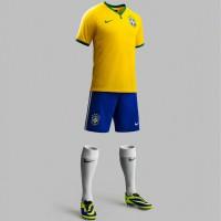 Brasilien Heim-Outfit Trikot, Hose, Socken fr die Fuball-Weltmeisterschaft 2014 in Brasilien von NIKE