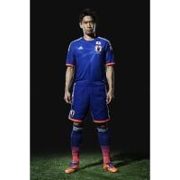 Shinji Kagawa im Japan Heim-Outfit fr die Fuball-Weltmeisterschaft 2014 in Brasilien von adidas