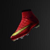 Mercurial Superfly 2014 mit Dynamic Fit-Schaft red/yellow von Nike