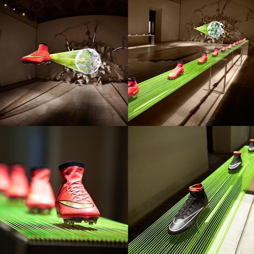 Mercurial Superfly IV Fußballschuhe 2014 von Nike in red/gold u. black/silver
