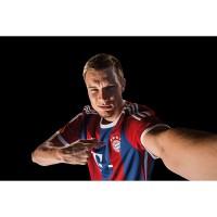 Holger Badstuber vom FC Bayern Mnchen im neuen Heim-Trikot Fuball-Bundesliga Saison 2014/15 von adidas