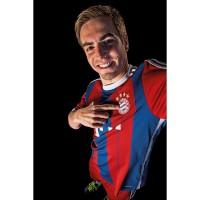 Philipp Lahm vom FC Bayern Mnchen im neuen Heim-Trikot Fuball-Bundesliga Saison 2014/15 von adidas