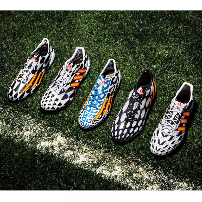 Battle Pack Fußballschuhe 2014 von adidas: adizero f50, nitrocharge, adizero f50 Messi, predator u. 11pro