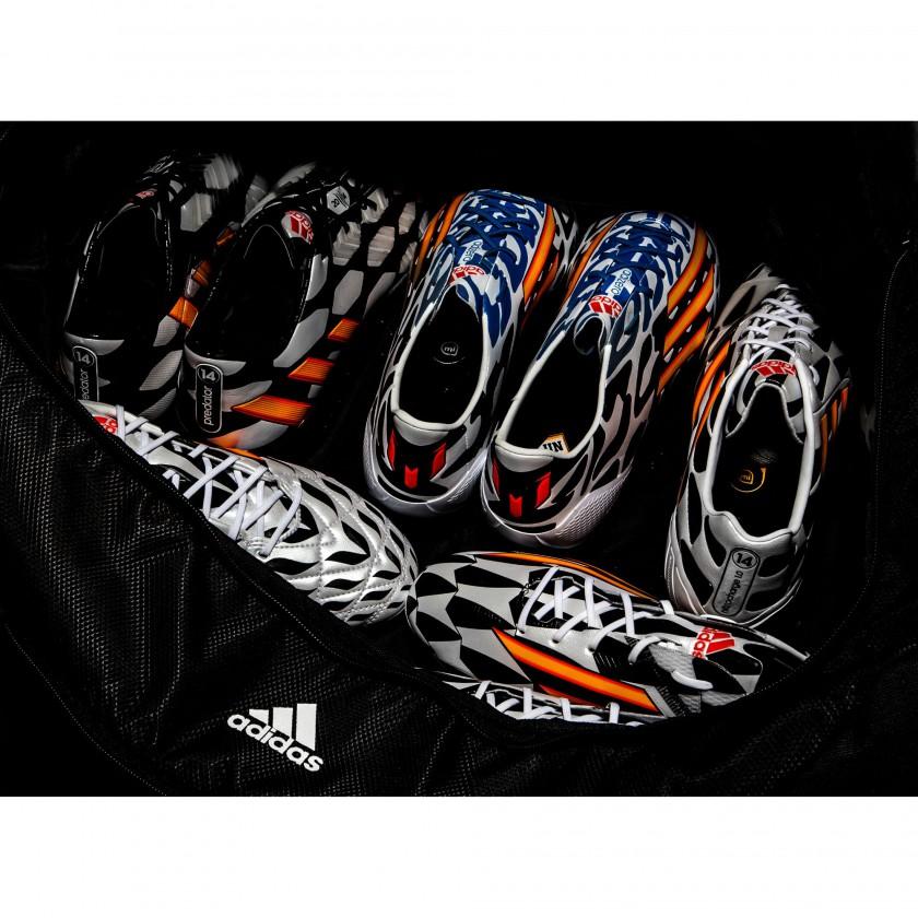 Battle Pack Fußballschuhe 2014 von adidas: predator, adizero f50 Messi, nitrocharge, 11pro u. adizero f50