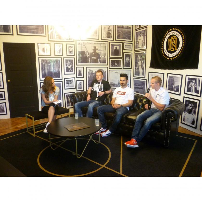 NIKE House of Phenomenal Berlin 2014: Ikay Gndogan, Sebastian Rode und Maximilian Arnold im Interview am Erffnungstag