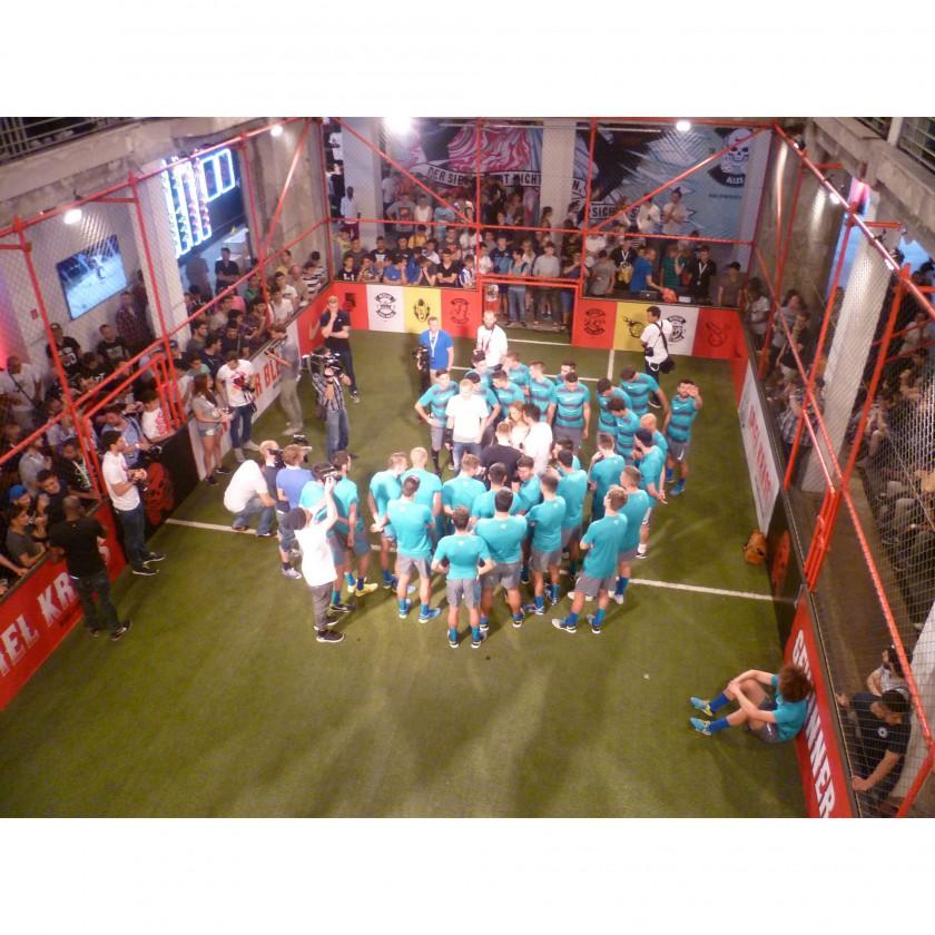 NIKE House of Phenomenal Berlin 2014: Das Spielfeld im Haus kurz vor dem Finale des Berliner Kiez-Turniers