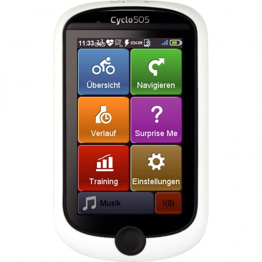 Cyclo 505 GPS-Fahrrad-Navigationsgerät - neues Hauptmenü 2014 von Mio