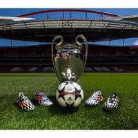 adidas Battle Pack, der UEFA Champions League Pokal und der Ball des Finals 2014