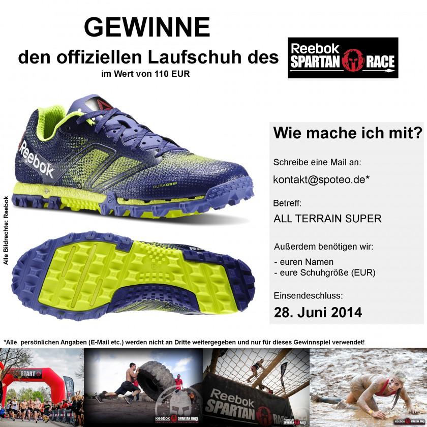 Gewinne den offiziellen Laufschuh des Reebok Spartan Race im Wert von 110 EUR