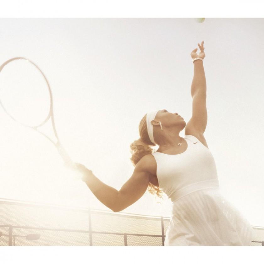 Serena Williams im Wimbledon-Oufit 2014 von Nike Tennis