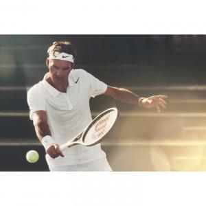 Roger Federer im Wimbledon-Oufit 2014 von Nike Tennis