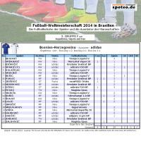Fuball WM 2014 Team Bosnien-Herzegowina: Die Fuballschuhe der Spieler