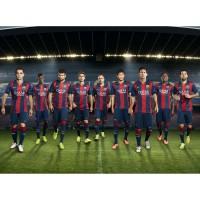 Neymar, Iniesta, Pique, Busquets u.m. vom FC Barcelona im neuen Heim-Outfit 2014/15 von Nike