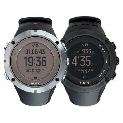 Ambit3 Peak GPS-Multisportuhr grau/schwarz front 2014 von SUUNTO