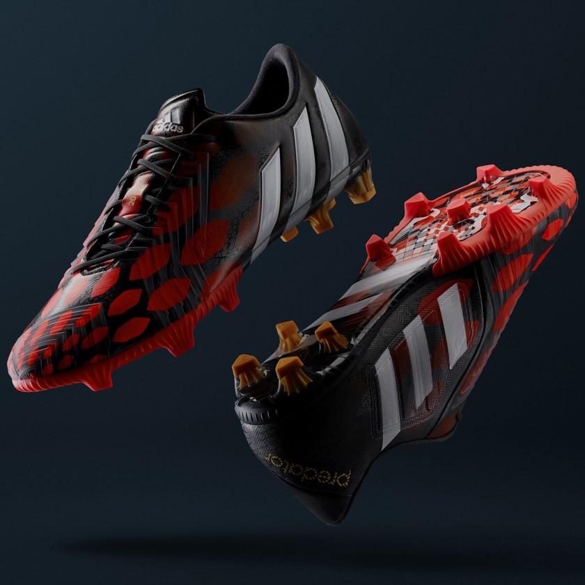Predator Instinct Fußballschuhe red/white/black side, sole 2014 von adidas