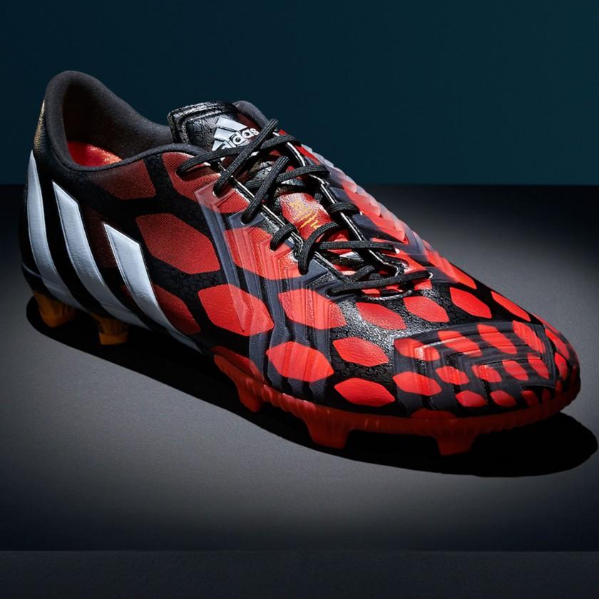 Predator Instinct Fuballschuhe red/white/black seitlich 2014 von adidas
