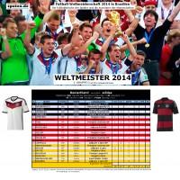 Fuball WM 2014 Weltmeister Deutschland: Die Fuballschuhe der Spieler