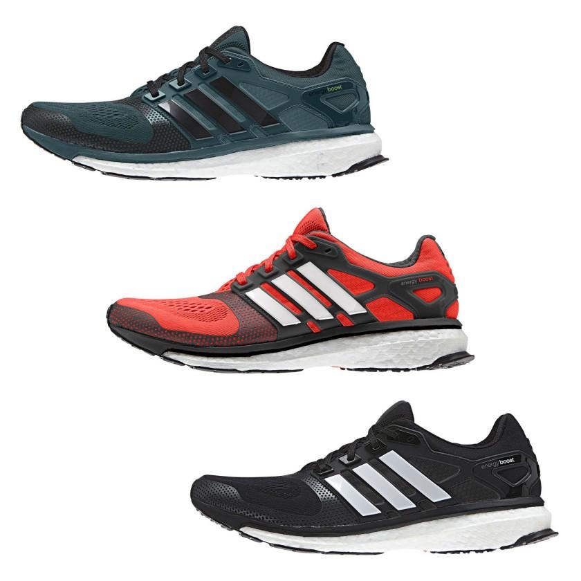 Energy Boost 2 ESM Laufschuhe rich-green, solar-red, black Men 2014 von adidas