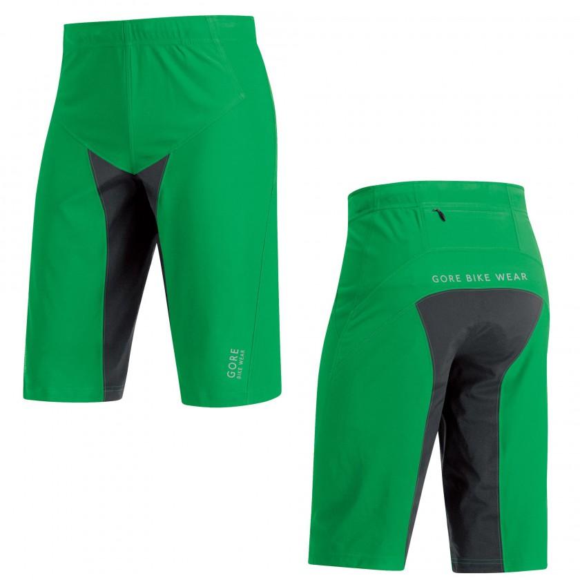ALP-X PRO WS SO Shorts green/black Men 2015 von Gore Bike Wear