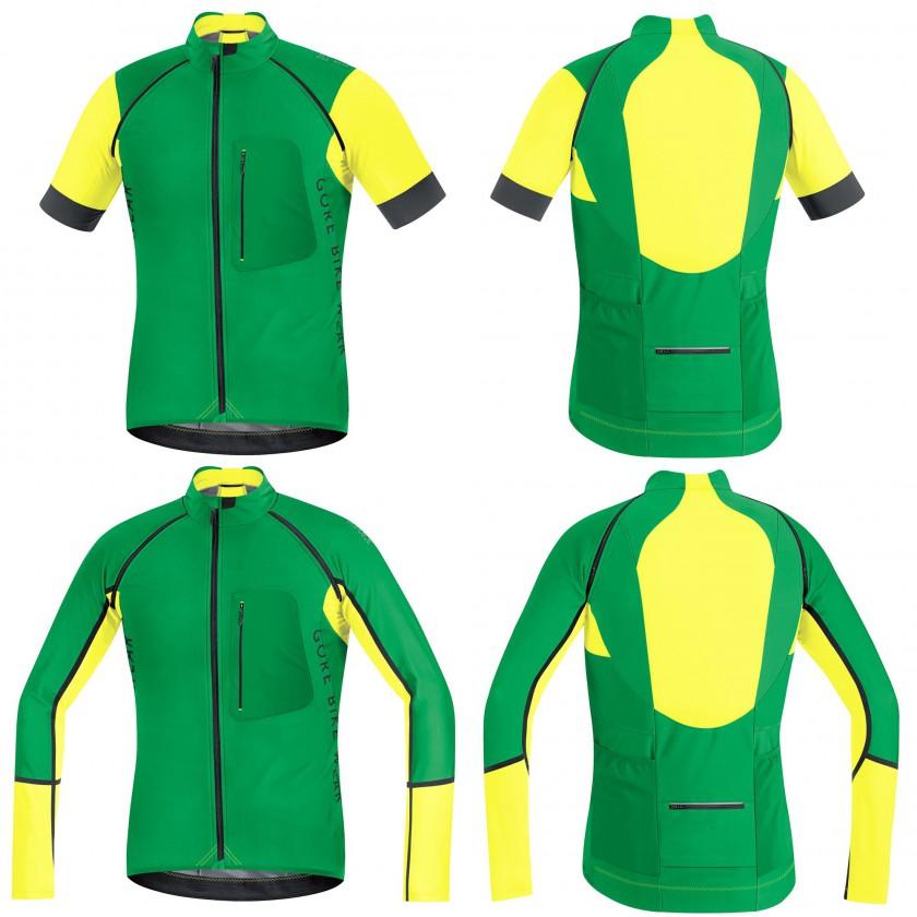 ALP-X PRO WS SO Zip-Off Trikot/Jacket green/yellow Men 2015 von Gore Bike Wear