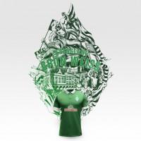 SV Werder Bremen - Lebenslang Grn Weiss Grafik mit Heim-Trikot 2014/15 von NIKE