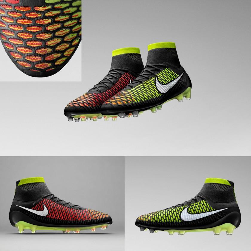 Magista Obra Fußballschuh black/volt/hyperpunch/white front, side 2014 von Nike