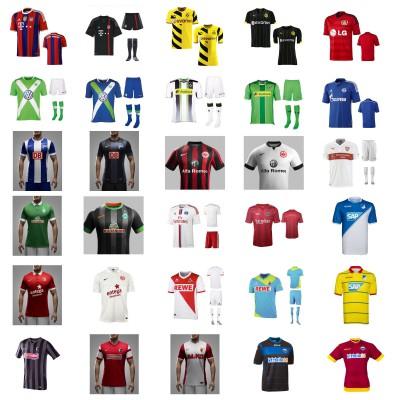fu ballbekleidung saison 2014 15 alle trikots und