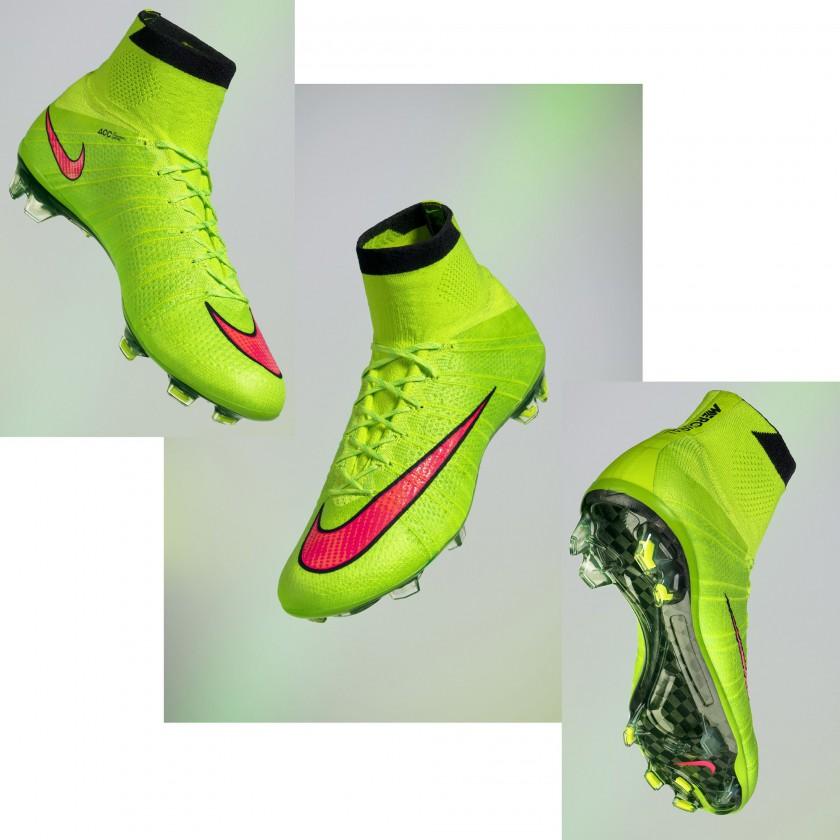 Mercurial Superfly IV mit Dynamic Fit-Schaft electric-green 2014 von Nike