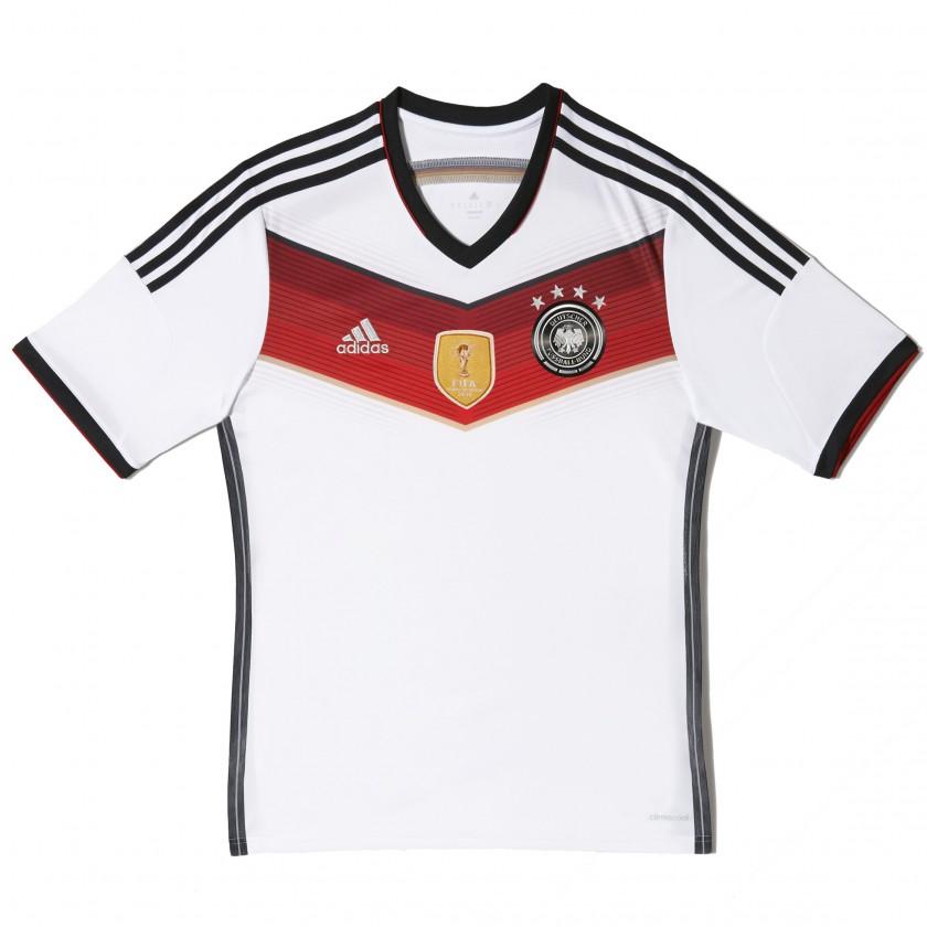 Deutschland Heimtrikot - 4 Sterne u. FIFA World Champion Sticker 2014 von adidas