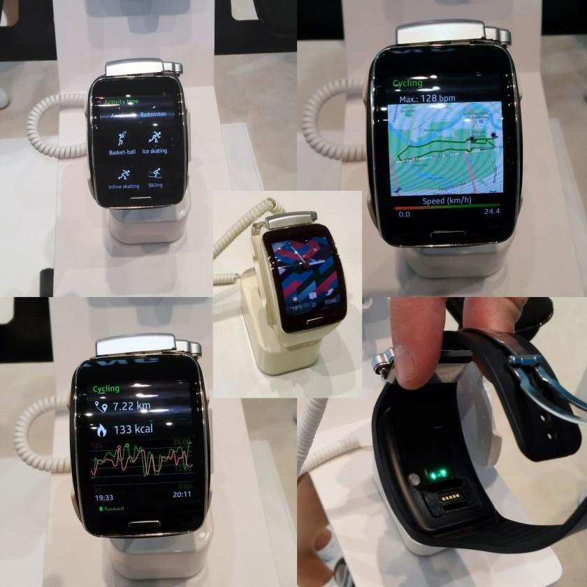 Samsung Gear S Smart Watch Sport S Health App  u. optischer Puls-Sender 2014 von Samsung