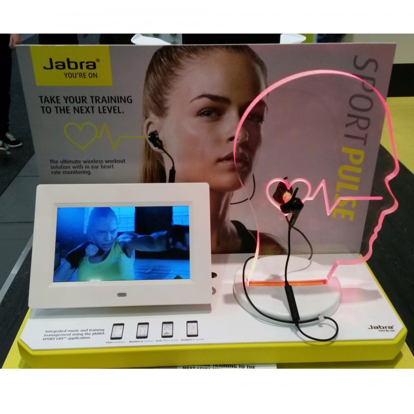 Sport Pulse Wireless in ear Kopfhörer mit Pulsmesser präsentiert von Jabra auf der IFA 2014