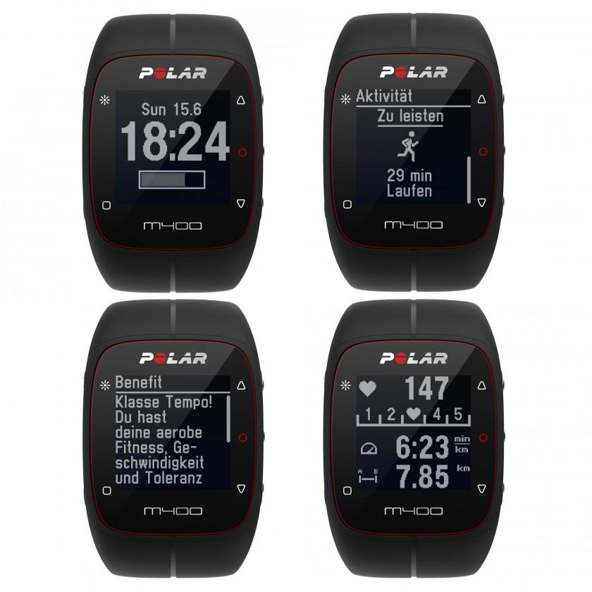 M400 Multi-Sportuhr Zeit, Aktivität, Benefit, Herzfrequenz 2014 von Polar