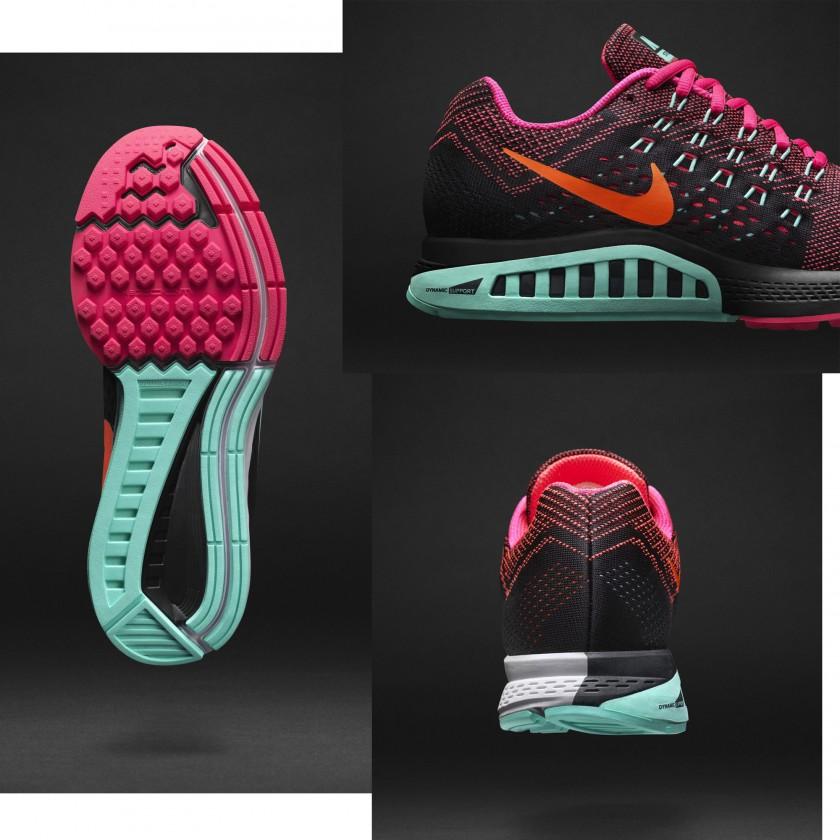 Air Zoom Structure 18 Laufschuh Women sole, inside, rear 2014 von Nike