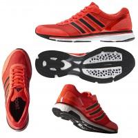 adizero Adios BOOST 2.0 solar-red side, sole, top 2014 von adidas