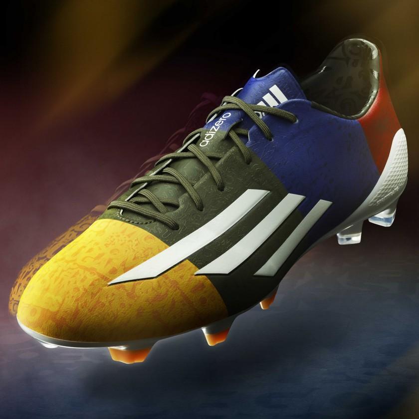 adizero F50 Messi Fuballschuh UEFA Champions League Edition yellow-black-blue-red 2014 von adidas